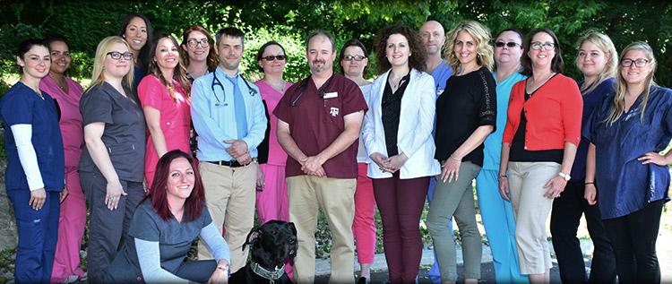 Staff at Norwalk Animal Hospital